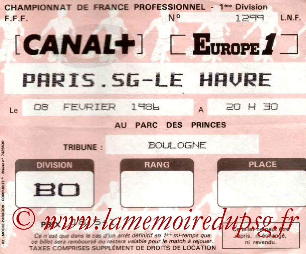 1986-02-08  PSG-Le Havre (29ème D1)