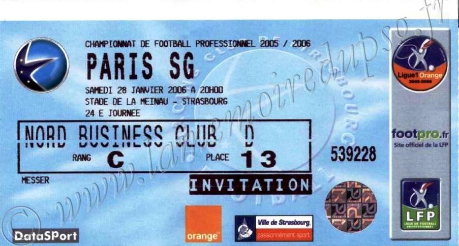 2006-02-08  Strasbourg-PSG (24ème L1, match en retard)