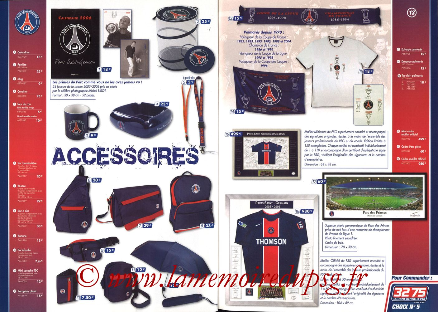 Catalogue PSG - 2005-06 - Pages 12 et 13