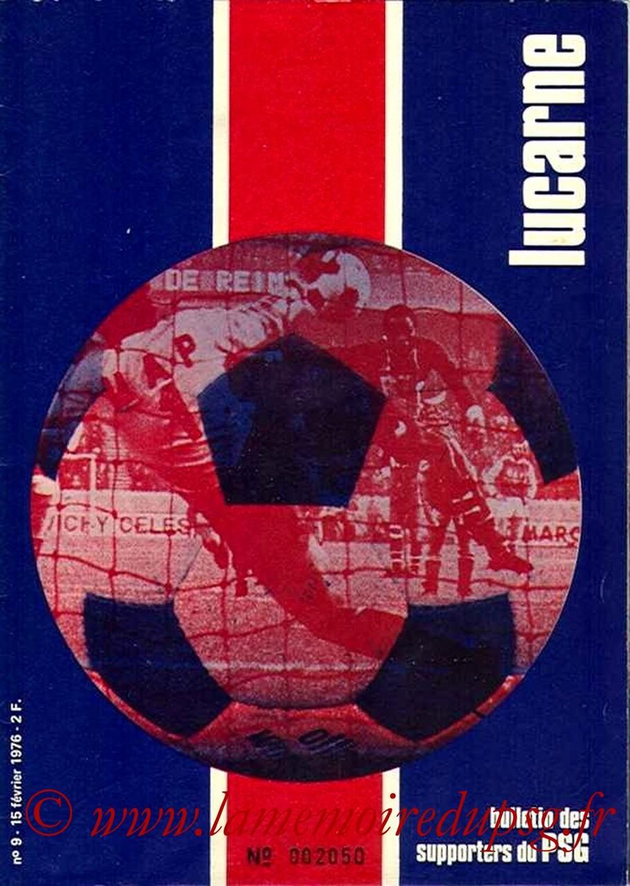 1976-02-15  PSG-Saint Etienne  (24ème D1, Lucarne N°9)