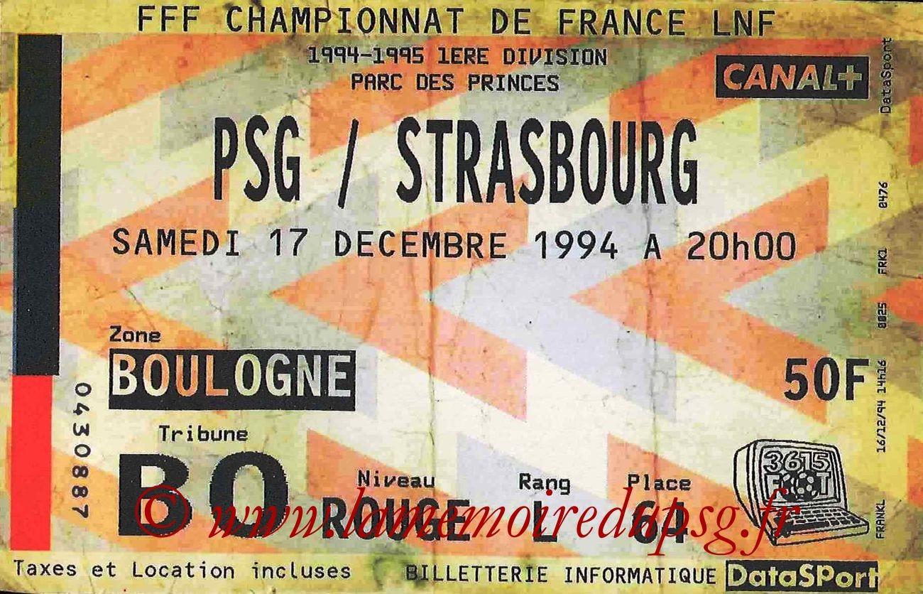 1994-12-18  PSG-Strasbourg (21ème, bis)