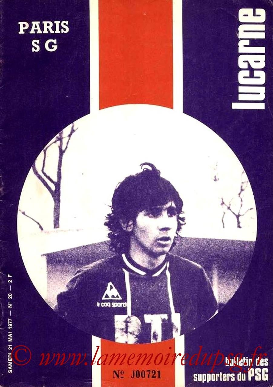 1977-05-21  PSG-Lille (34ème D1, Lucarne N°20)
