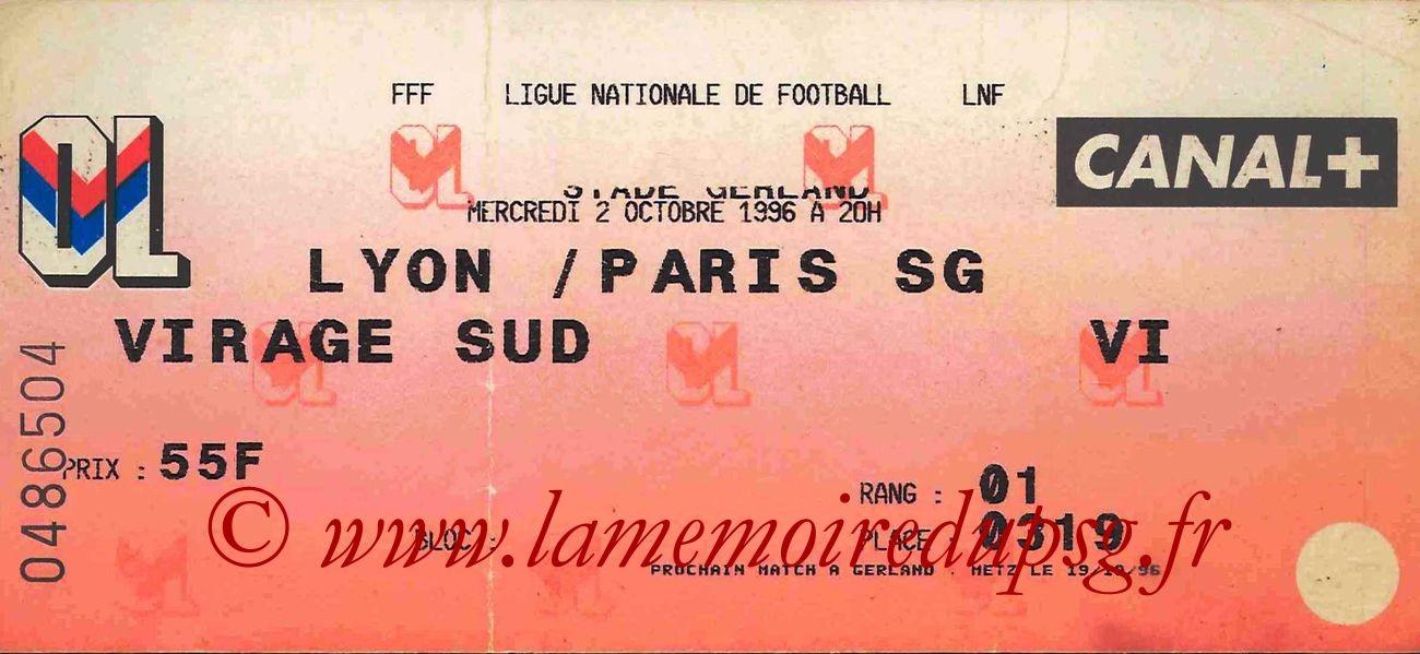 1996-10-02  Lyon-PSG (10ème D1)