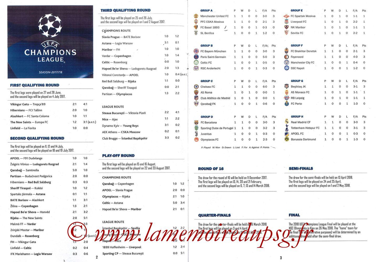 2017-09-27  PSG-Bayern Munich (2ème Poule C1, Programme pirate) - Pages 02 et 03