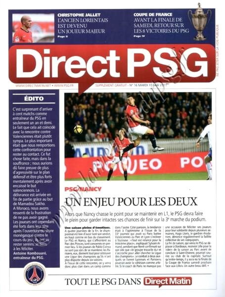 2011-05-10  PSG-Nancy (35ème L1, Direct PSG N°16)