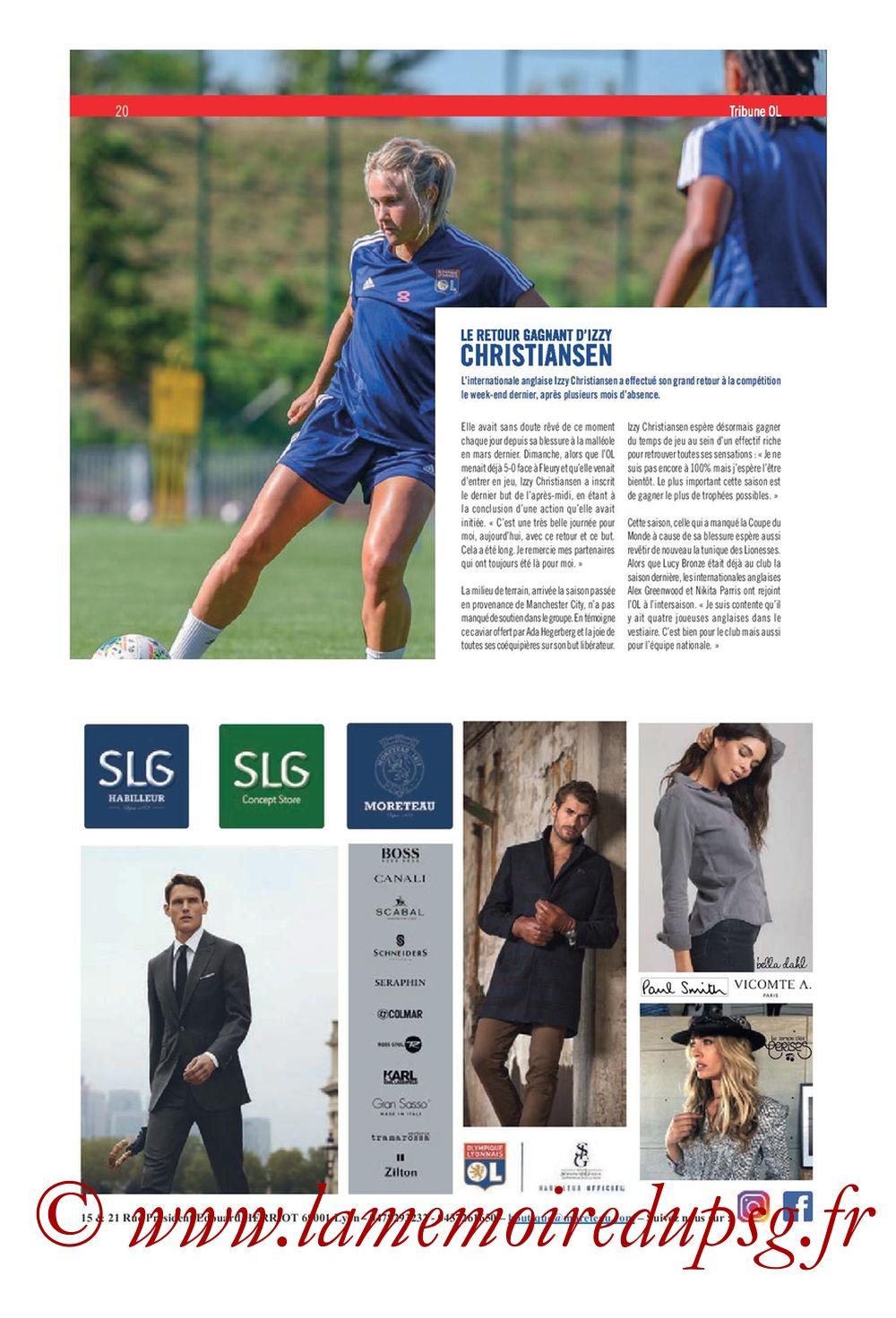 2019-09-22  Lyon-PSG (6ème L1, Tribune OL N°284) - Page 20