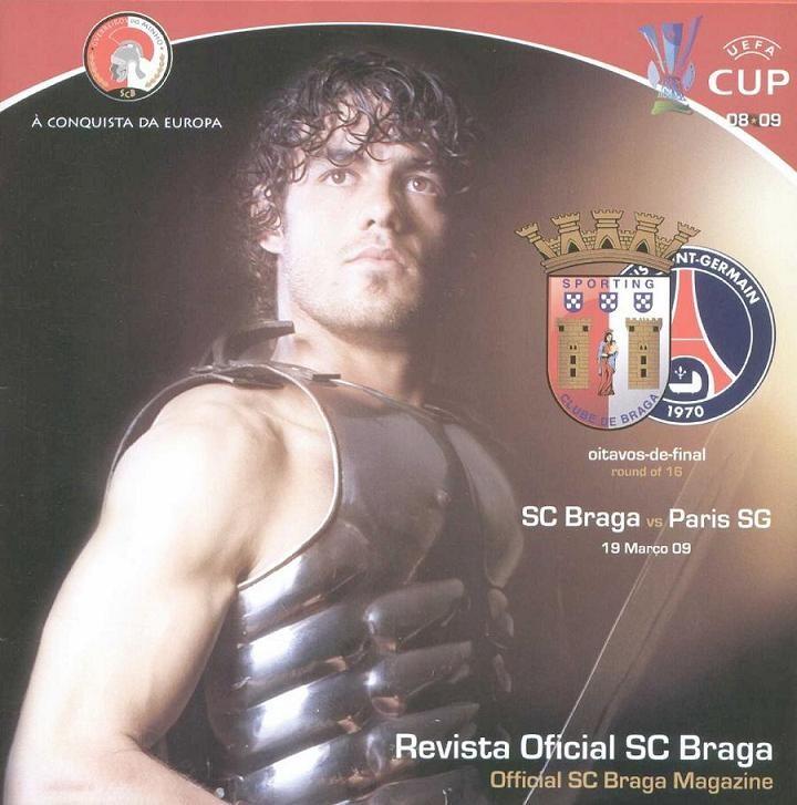 2009-03-19  Sporting Braga-PSG (8ème Finale Retour C3, Programme officiel)