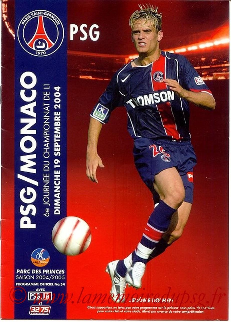 2004-09-19  PSG-Monaco (6ème L1, Officiel N°54)