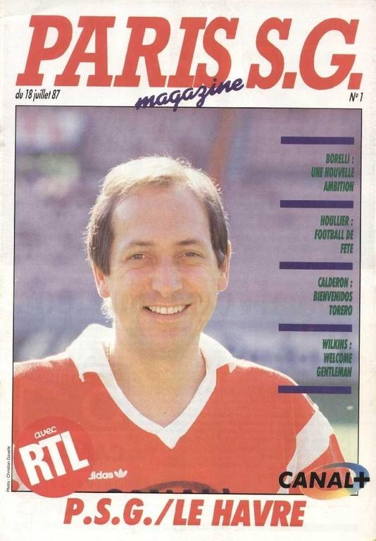 1987-07-18  PSG-Le Havre (1ère D1, Paris SG Magazine N°1)
