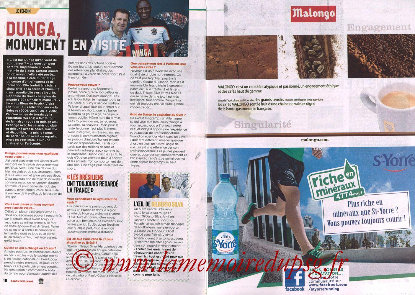 2018-09-29  Nice-PSG (8ème L1, Ogcnice.Mag N°313) - Pages 16 et 17