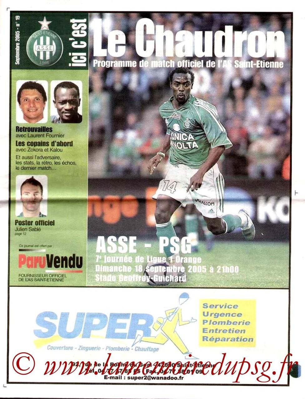 2005-09-18  Saint Etienne-PSG (7ème L1, Le chaudron N°19)