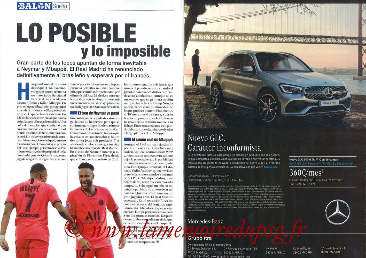 2019-11-26  Real Madrid-PSG (5ème C1, El Balon in the Game N°74) - Pages 08 et 09