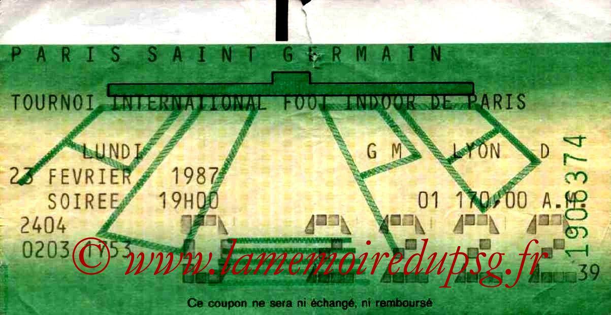 1987-02-23  PSG-FC Porto et PSG-Bordeaux (4ème Foot indoor à Bercy, 1ère journée, Bis)
