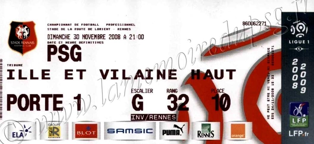 2008-11-30  Rennes-PSG (16ème L1)