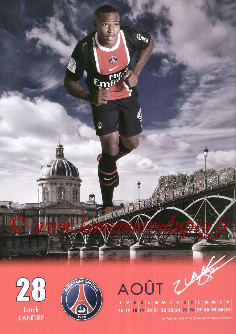 Calendrier PSG 2012 - Page 16 - Loick LANDRE