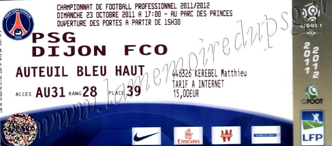 2011-10-23  PSG-Dijon (11ème L1)