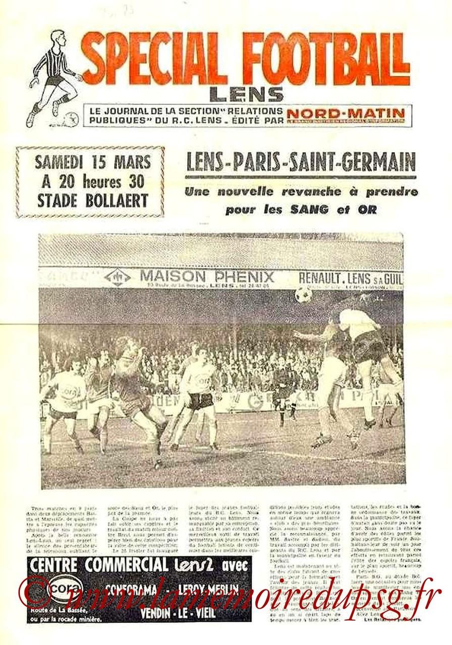 1975-03-15  Lens-PSG (30ème D1, Spécial Football)