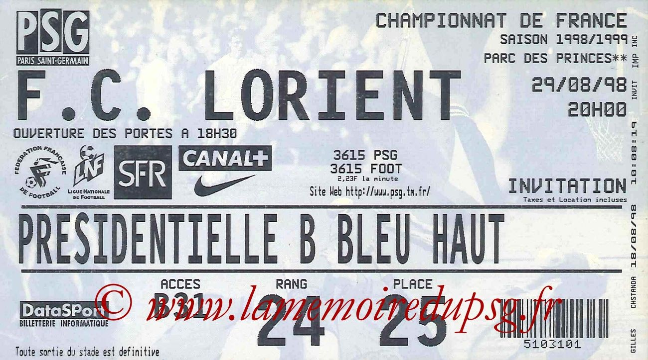 1998-08-29  PSG-Lorient (4ème D1)