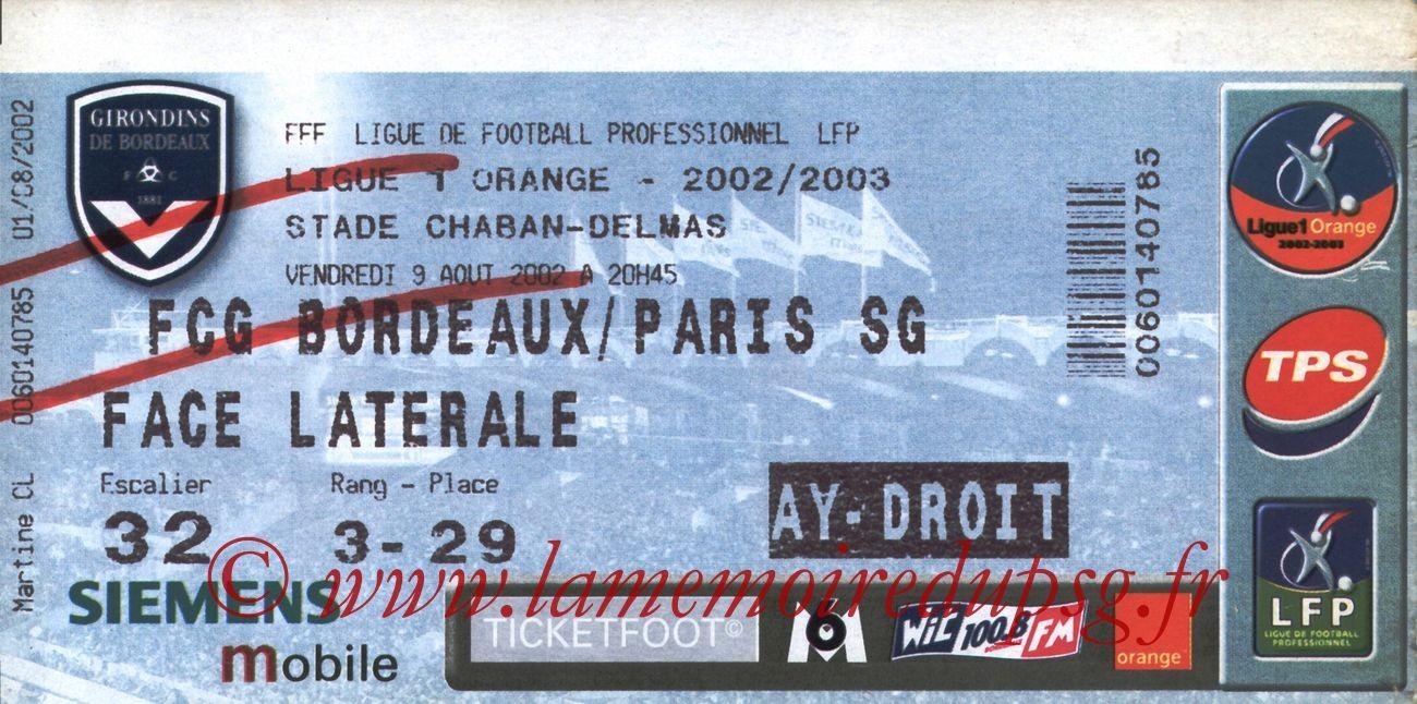 2002-08-09  Bordeaux-PSG (2ème L1)