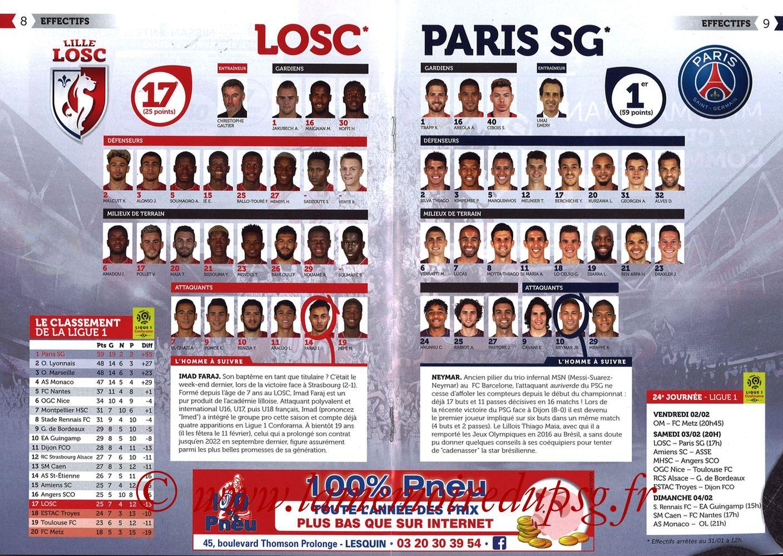 2018-02-03  Lille-PSG (24ème L1, Réservoir Dogues N°82) - Pages 08 et 09
