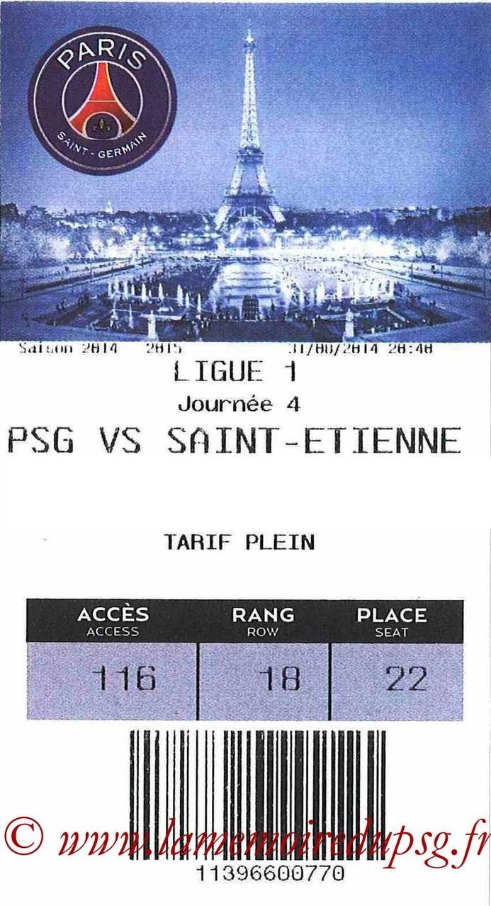 2014-08-31  PSG-Saint Etienne (4ème L1, E-ticket)