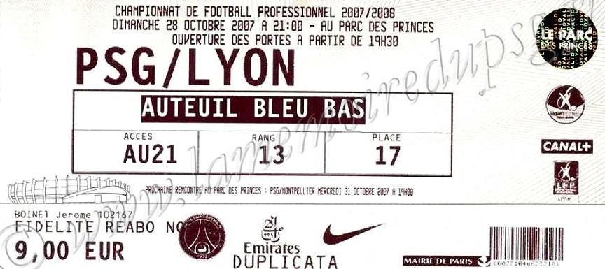 2007-10-28  PSG-Lyon (12ème L1)