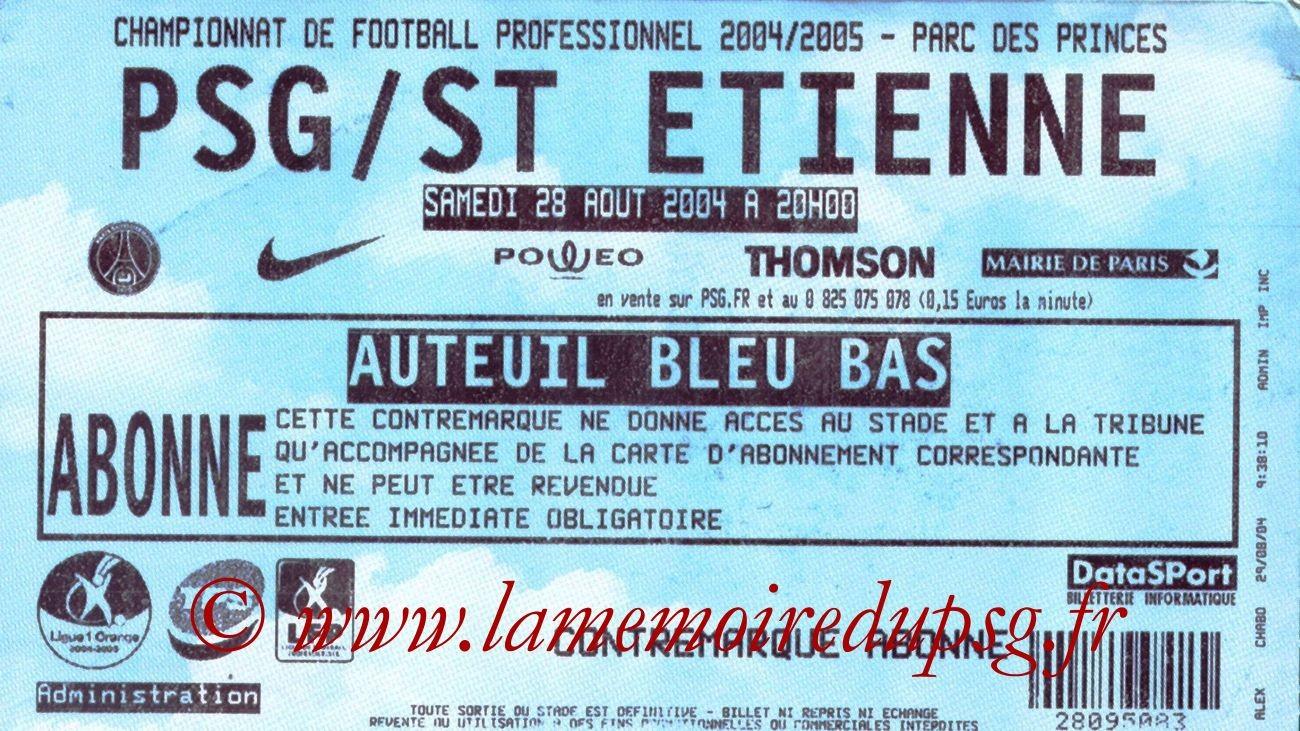 2004-08-29  PSG-Saint Etienne (4ème L1)