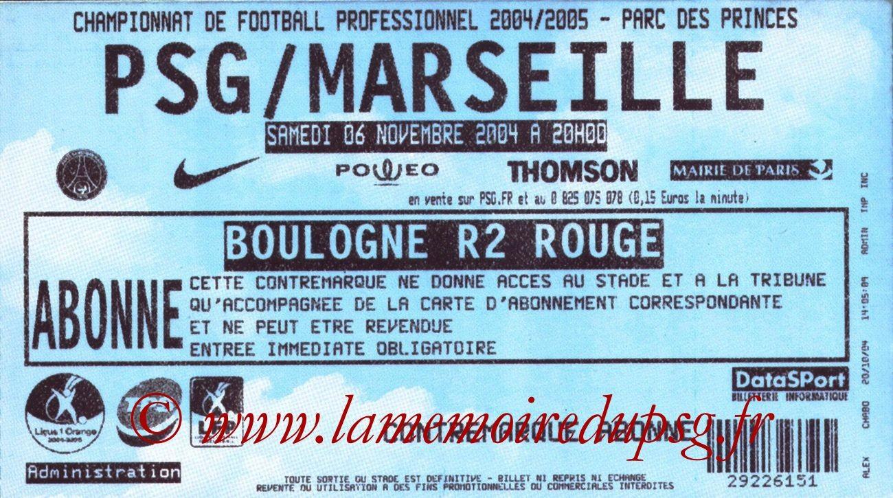 2004-11-07  PSG-Marseille (13ème L1)