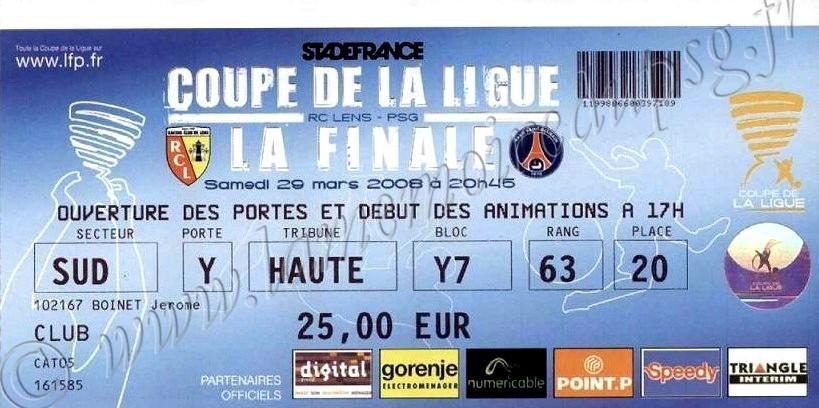 2008-03-29  PSG-Lens (Finale CL au Stade de France)