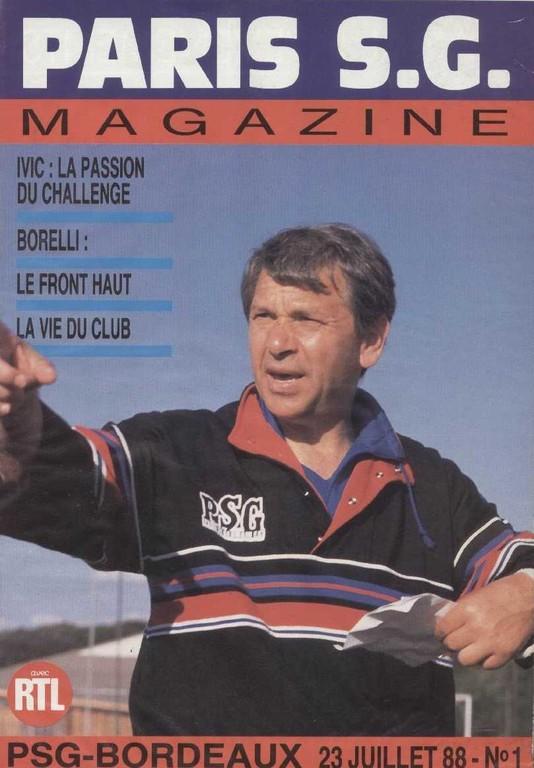 1988-07-23  PSG-Bordeaux (2ème D1 Paris SG Magazine N°1)
