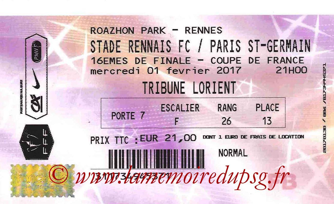 2017-02-01  Rennes-PSG (16ème CF, Francebillet)