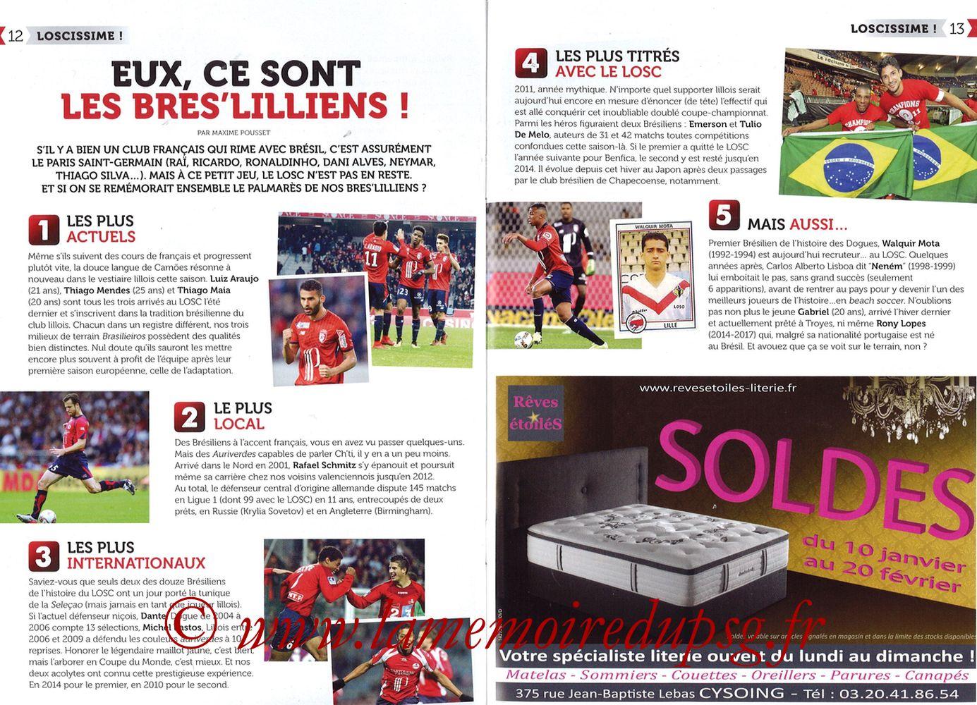 2018-02-03  Lille-PSG (24ème L1, Réservoir Dogues N°82) - Pages 12 et 13