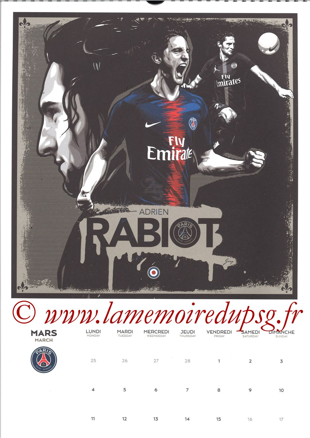 Calendrier PSG 2019 - Page 05 - Adrien RABIOT