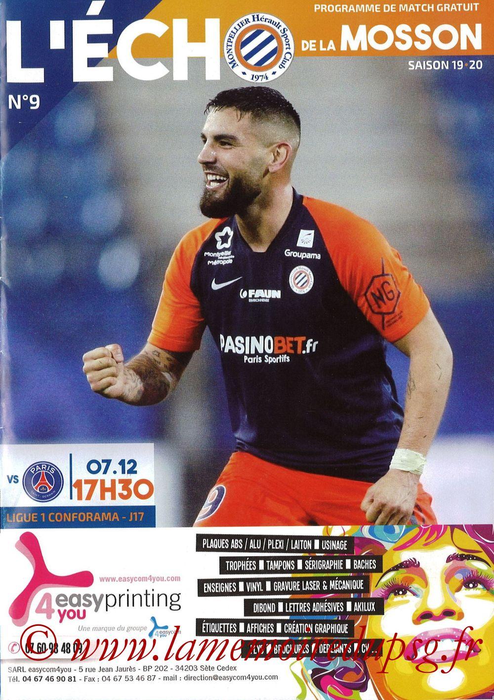 2019-12-07  Montpellier-PSG (17ème L1, L'Echo de la Mosson N°9)