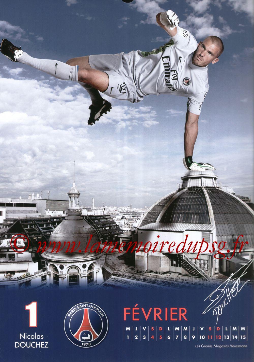 Calendrier PSG 2012 - Page 03 - Nicolas DOUCHEZ