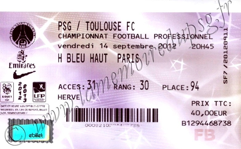 2012-09-14  PSG-Toulouse (5ème L1, Billetel)