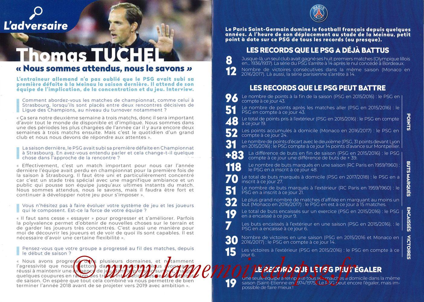 2018-12-05  Strasbourg-PSG (16ème L1, Passion Racing N°7) - Pages 06 et 07