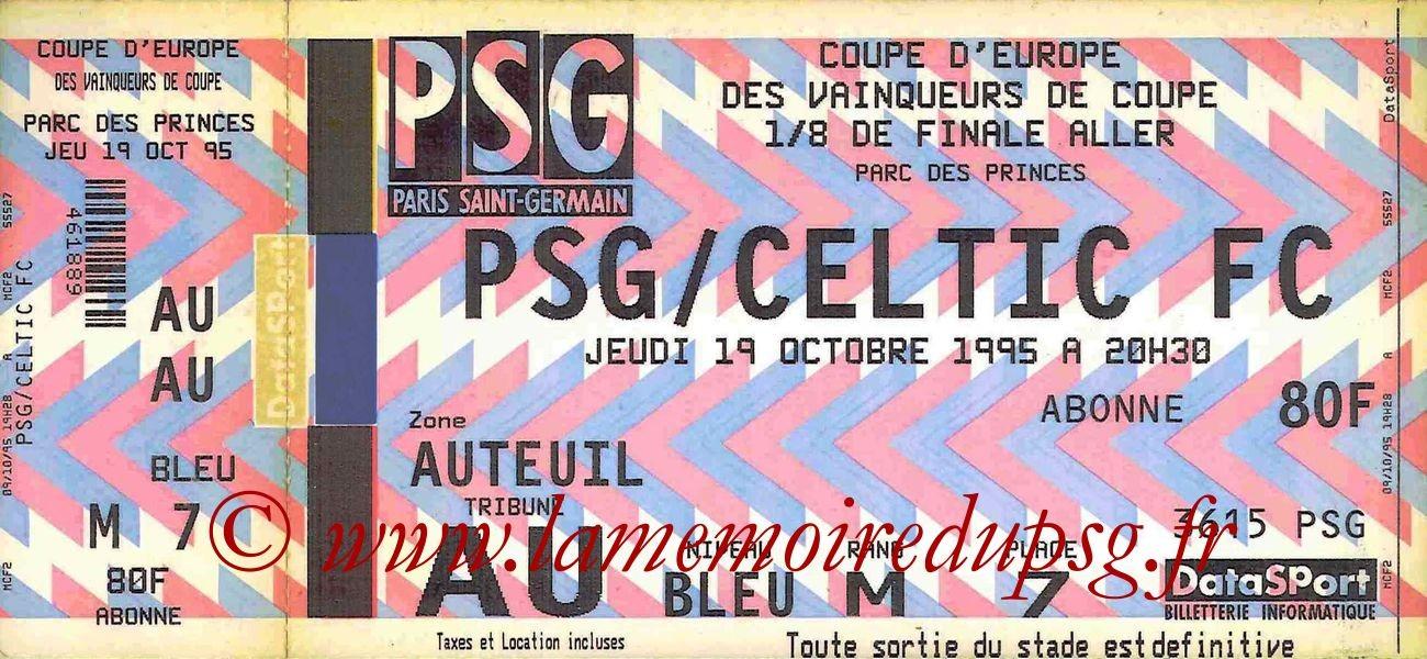 1995-10-19  PSG-Celtic (8ème Finale Aller C2)