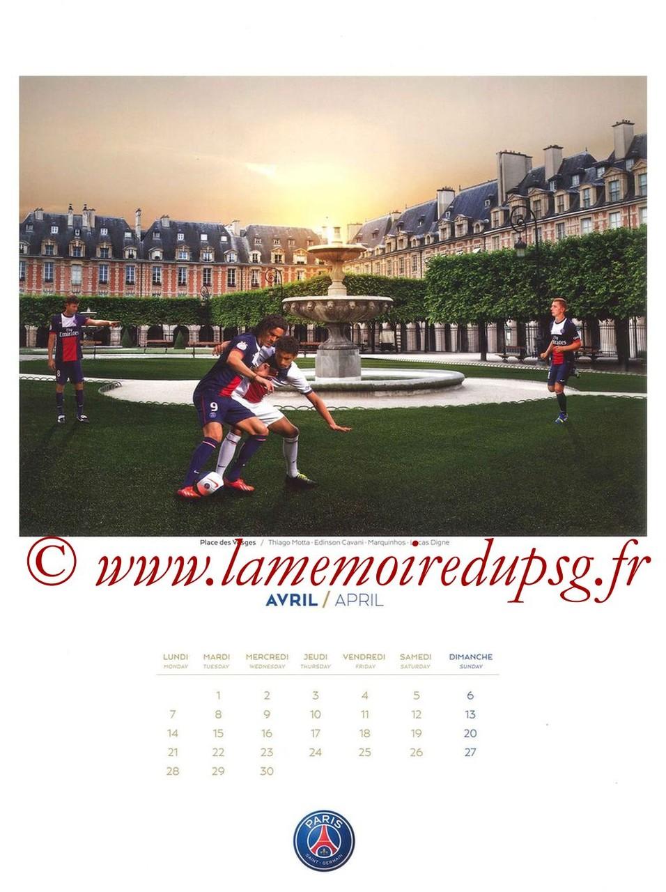 Calendrier PSG 2014 - Page 04 - Place des Vosges