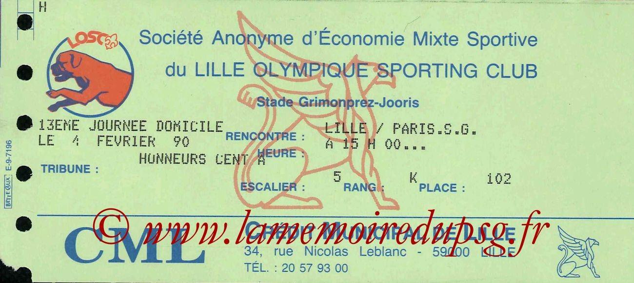 1990-02-04  Lille-PSG (24ème D1)