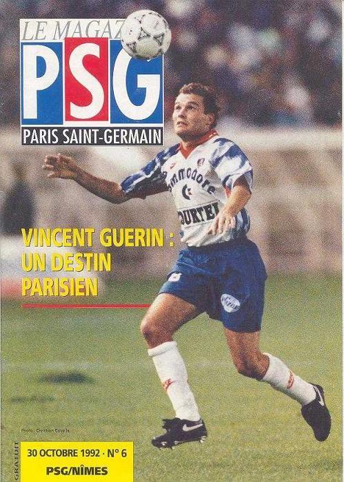 1992-10-30  PSG-Nimes (13ème D1, Le Magazine PSG N°6)