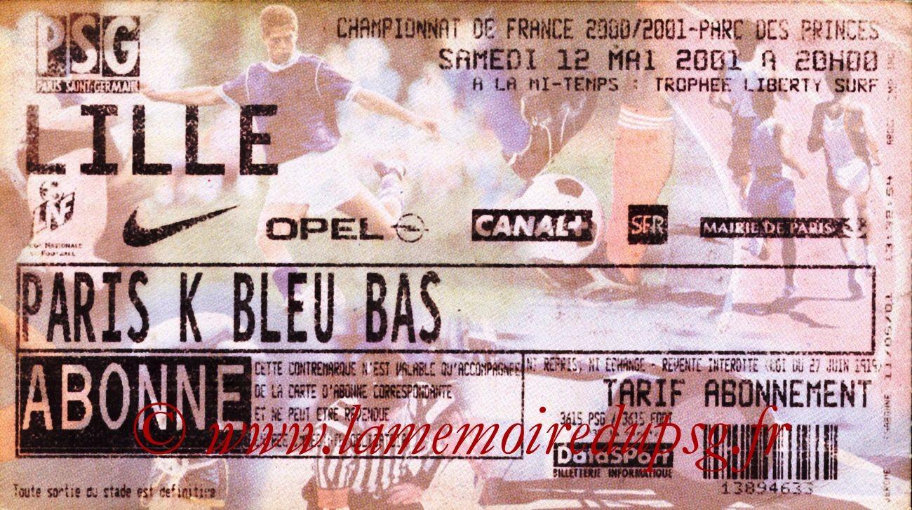 2001-05-12  PSG-Lille (33ème D1)