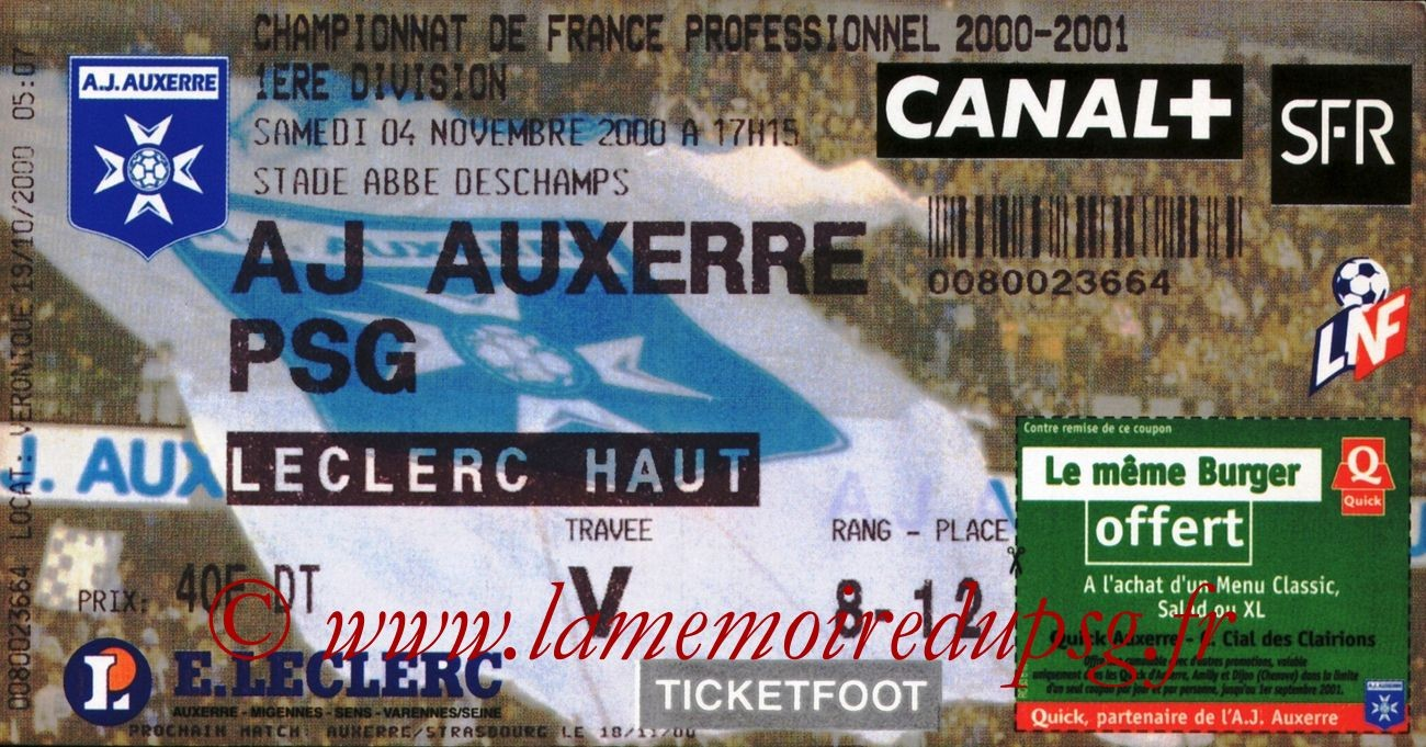 2000-11-04  Auxerre-PSG (14ème D1)