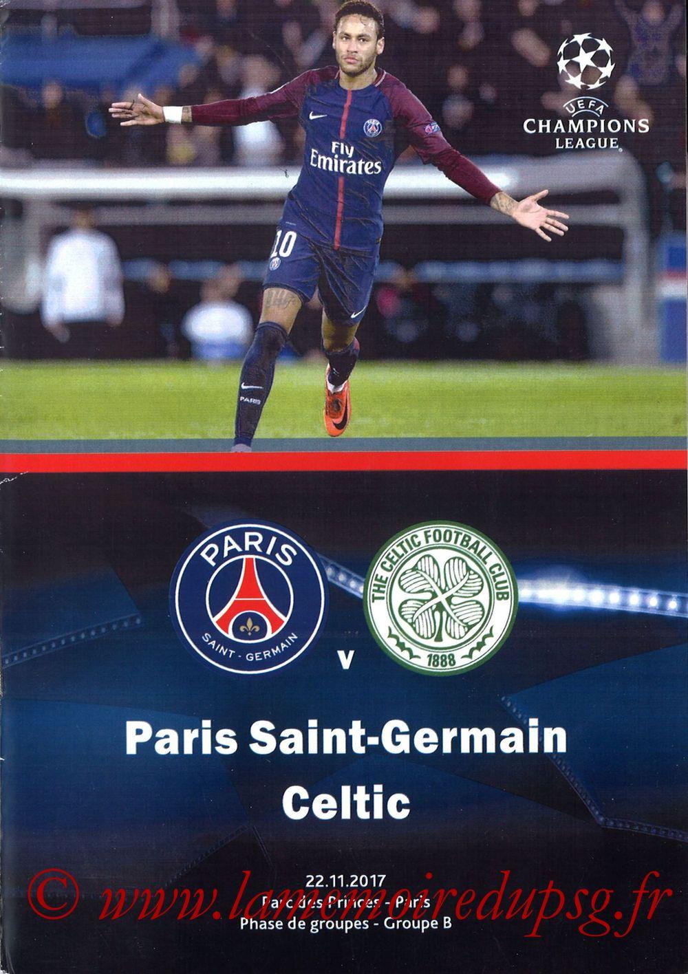2017-11-22  PSG-Celtic (5ème Poule C1, Programme pirate)