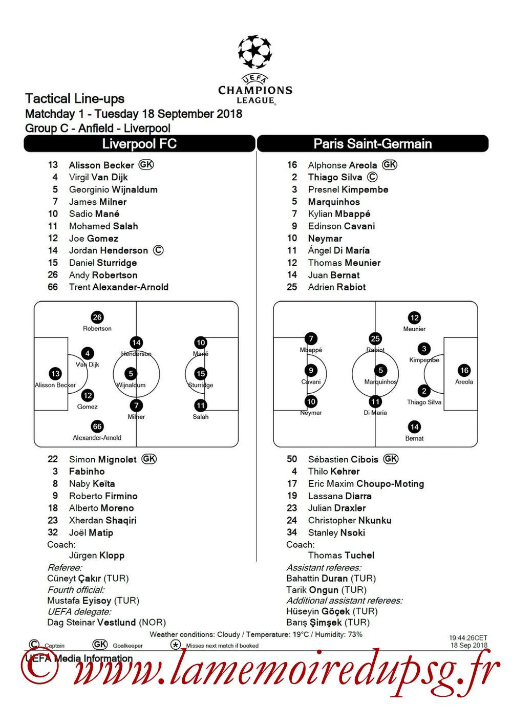 2018-09-18  Liverpool-PSG (1ère C1, Feuille de match)