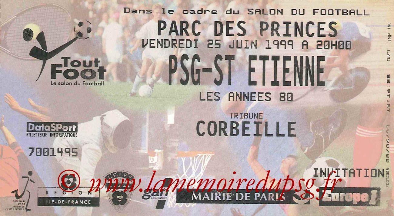 1999-06-25  PSG-Saint Etienne 1980 (Amical au Parc des Princes)