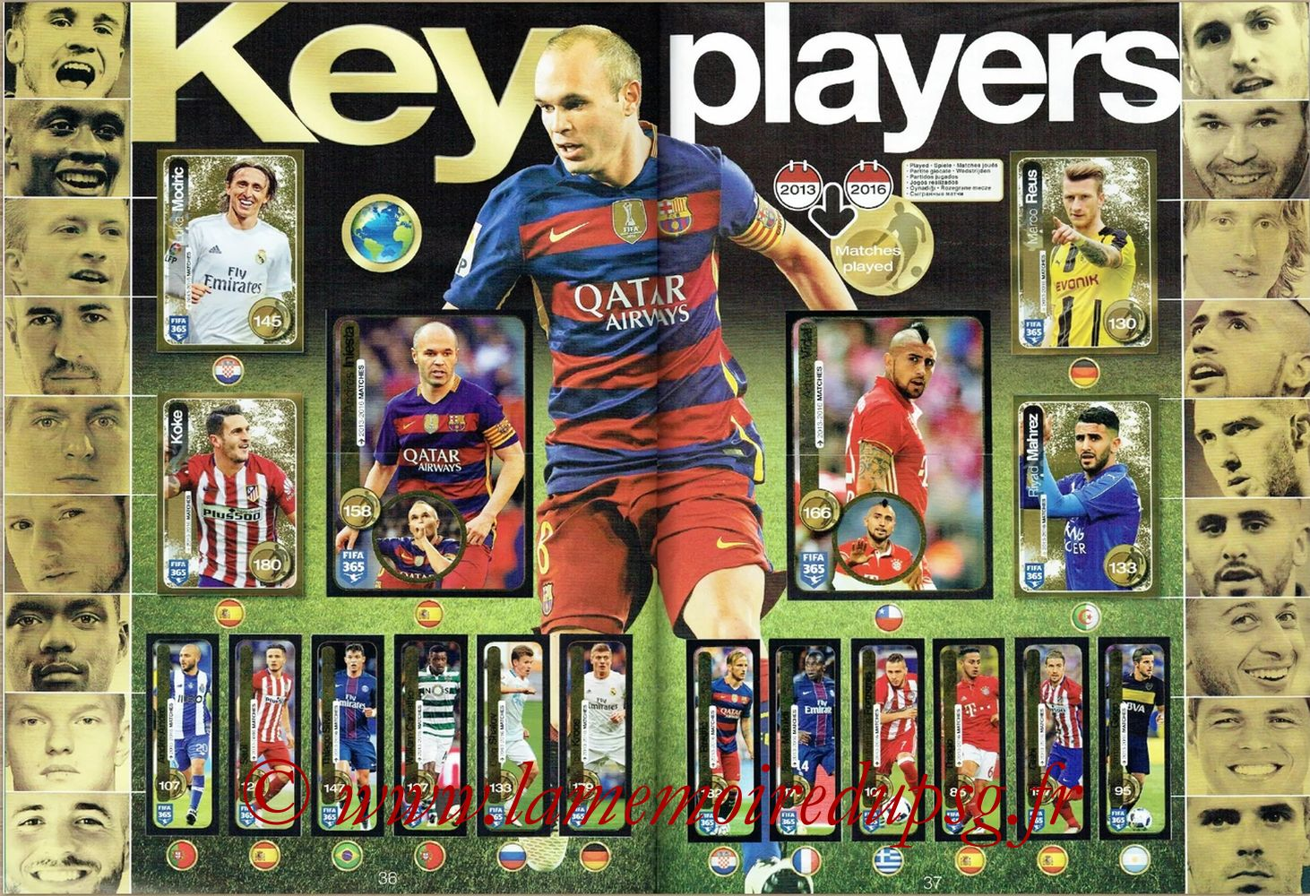2016-17 - Panini FIFA 365 Stickers - Pages 36 et 37 - Key Players