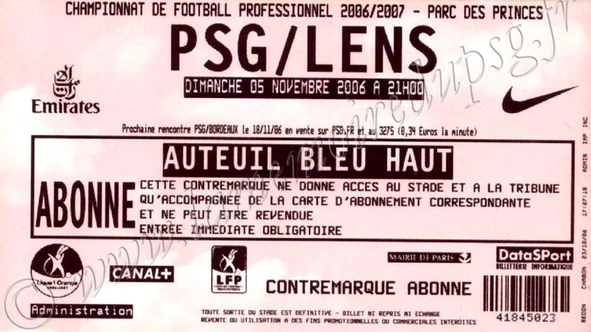 2006-11-05  PSG-Lens (12ème L1)