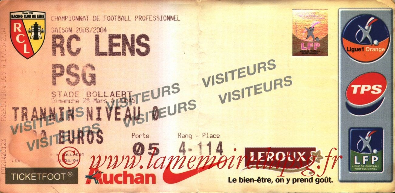 2004-03-28   Lens-PSG (30ème L1)
