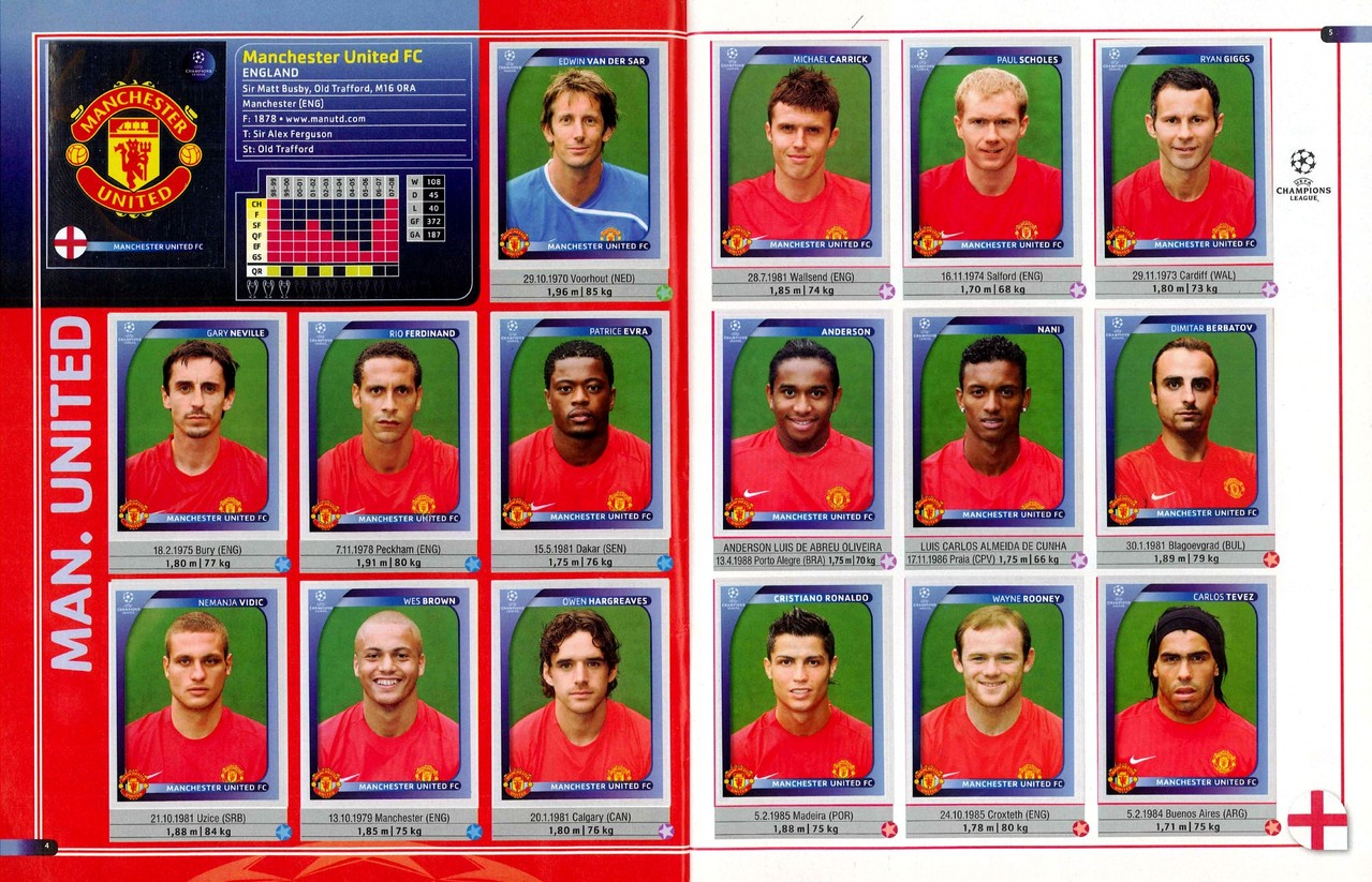 2008-09 - Panini Champions League - Pages 04 et 05 - Manchester United